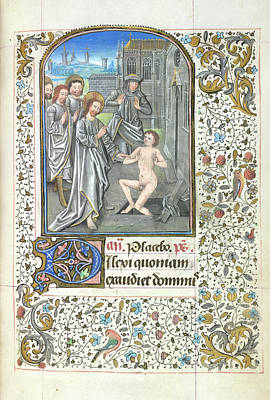 Depictions Of Nudity Photograph - Raising Of Lazarus by British Library