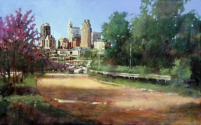 Raleigh Summer Skyline Art Print