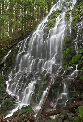 Ramona Falls In Clackamas County, Oregon Art Print