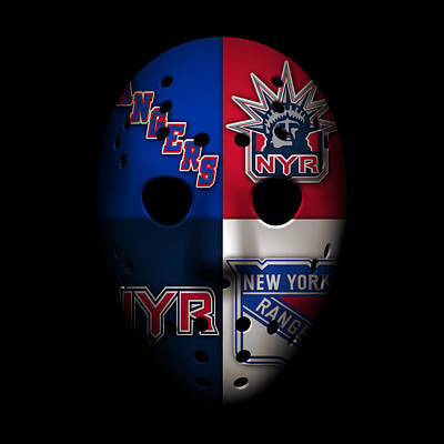 New York Rangers Photograph - Rangers Goalie Mask by Joe Hamilton