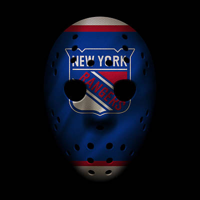 Photograph - Rangers Jersey Mask by Joe Hamilton