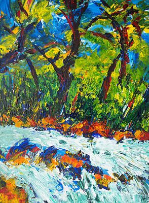 Painting - Rapids by Walt Brodis
