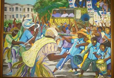 Haitian Painting - Rara On The Parkway by Herold Alexis