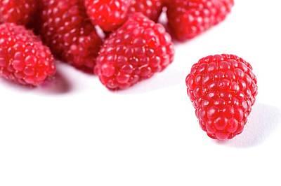 Raspberries Art Print by Aberration Films Ltd