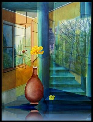 Fenster Mixed Media - Raumirritation 29 by Gertrude Scheffler
