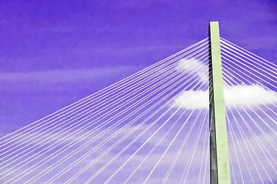 Photograph - Ravenel Bridge # 2 by Allen Beatty