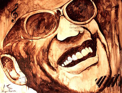 Mexicano Painting - Ray Charles by Hugo C Aguilar