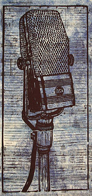 Austin Drawing - Rca 44 On Music by William Cauthern