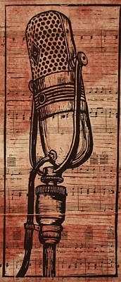 Rca 77 On Music Print by William Cauthern