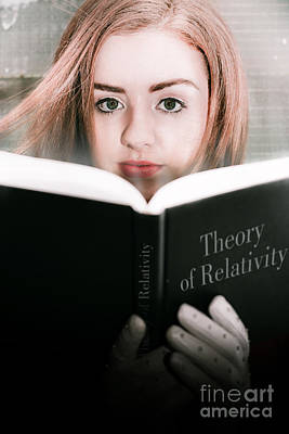 Reading Theory Of Relativity Book Art Print by Jorgo Photography - Wall Art Gallery