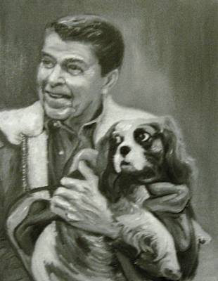Painting - Reagan And Rex by Martha Suhocke