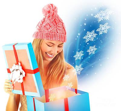 Receive Christmas Present Art Print