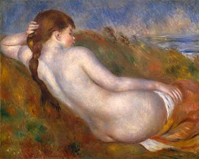 Reclining Nude Renoir Painting - Reclining Nude by Pierre-Auguste Renoir