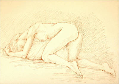 Reclining Woman Art Print by Deborah Dendler