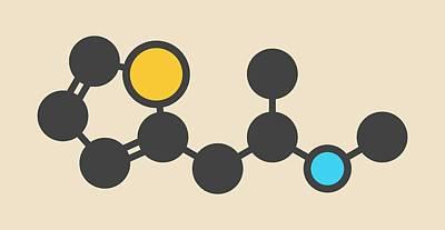 Atom Photograph - Recreational Drug Molecule by Molekuul
