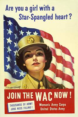 Photograph - Recruiting Poster For The U.s. Womens by Everett