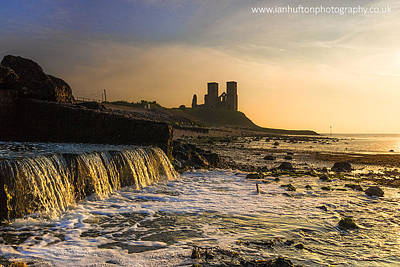 Reculver Photograph - Reculver Sunset by Ian Hufton