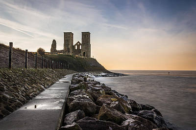 Reculver Photograph - Reculver Towers by Ian Hufton