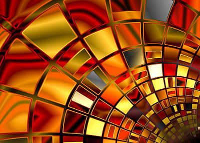 Unique Digital Art - Red And Gold by Hakon Soreide
