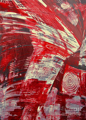 Red And White Art Print by Gabriele Mueller