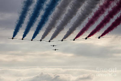 Red Arrows And Gnats Art Print by J Biggadike