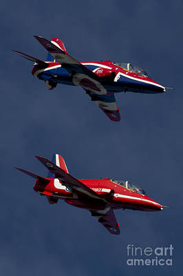 Hawk Digital Art - Red Arrows by J Biggadike