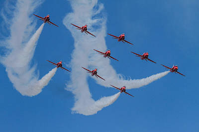 Photograph - Red Arrows Loop by Ken Brannen