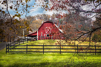 Kentucky Horse Park Photograph - Red Barn by Debra and Dave Vanderlaan