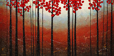 Painting - Red Blossom by Carmen Guedez