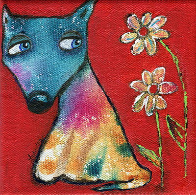 Painting - Red Dog by Lynda Metcalf