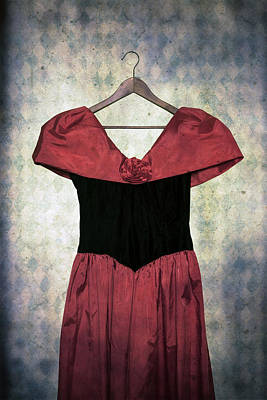 Coat Hanger Photograph - Red Dress by Joana Kruse