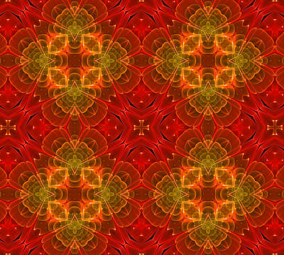 Abstract Digital Art - Red For Love by Georgiana Romanovna
