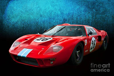 Photograph - Red Ford Gt40 by Stuart Row