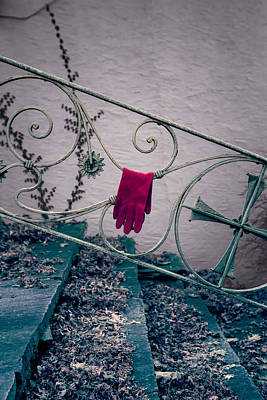 Staircase Scenes Photograph - Red Glove by Joana Kruse