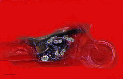 Painting - Red Hot Fatboy by Wayne Bonney