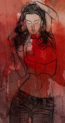 Red Is The Color Of Love Art Print by Steve K
