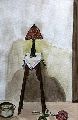 Red Lamp Art Print