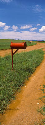 San Rafael Photograph - Red Mailbox At The Roadside, San Rafael by Panoramic Images