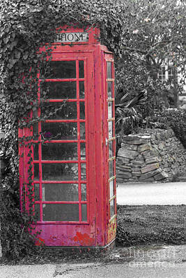 Photograph - Red Phone Box by Brian Roscorla