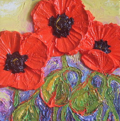 Red Poppies Art Print by Paris Wyatt Llanso