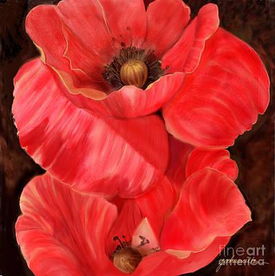 Red Poppy One Art Print by Joan A Hamilton