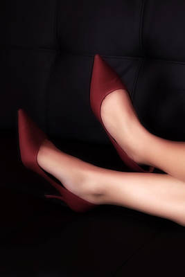 Sexy Legs Photograph - Red Pumps by Joana Kruse