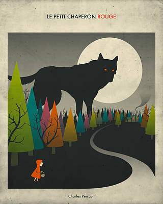 Wolves Digital Art - Red Riding Hood  by Jazzberry Blue