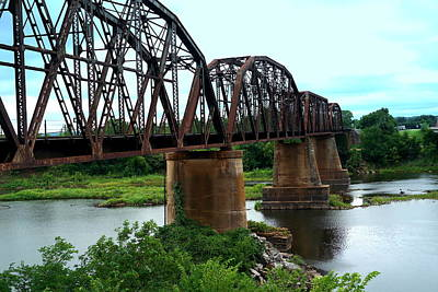 Photograph - Red River Rail Road Crossing by Diana Mary Sharpton
