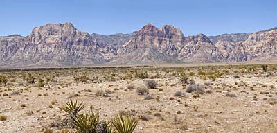 Semi Dry Photograph - Red Rock Canyon Panorama Nevada. by Gino Rigucci