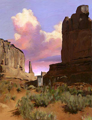 Red Rocks Print by Snake Jagger