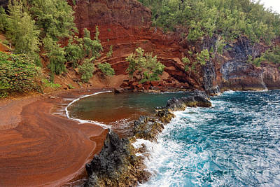 Photograph - Red Sand Beach - Maui by M Swiet Productions