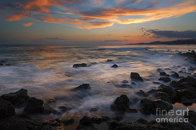 Poipu Photograph - Red Sky Paradise by Mike Dawson