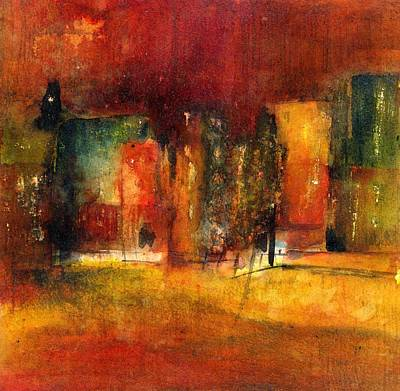 Painting - Red Town by Agnes Trachet