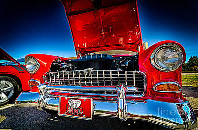 Photograph - Red Vintage Chevy Bel Air by Danny Hooks